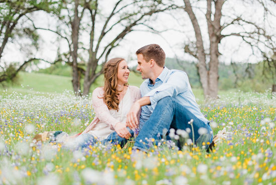 Spring Engagement Session with Wildflowers in Grass Valley near Auburn, California