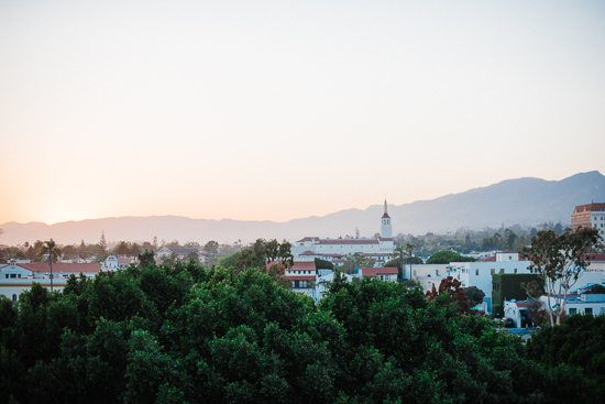 View from Kimpton Canary Hotel Rooftop Wedding in Santa Barbara California