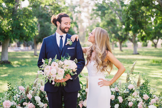 Bride and Groom Portrait from Wedding at Walnut Grove in Moorpark, California